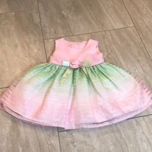 Ashley Ann pink and green spring formal dress